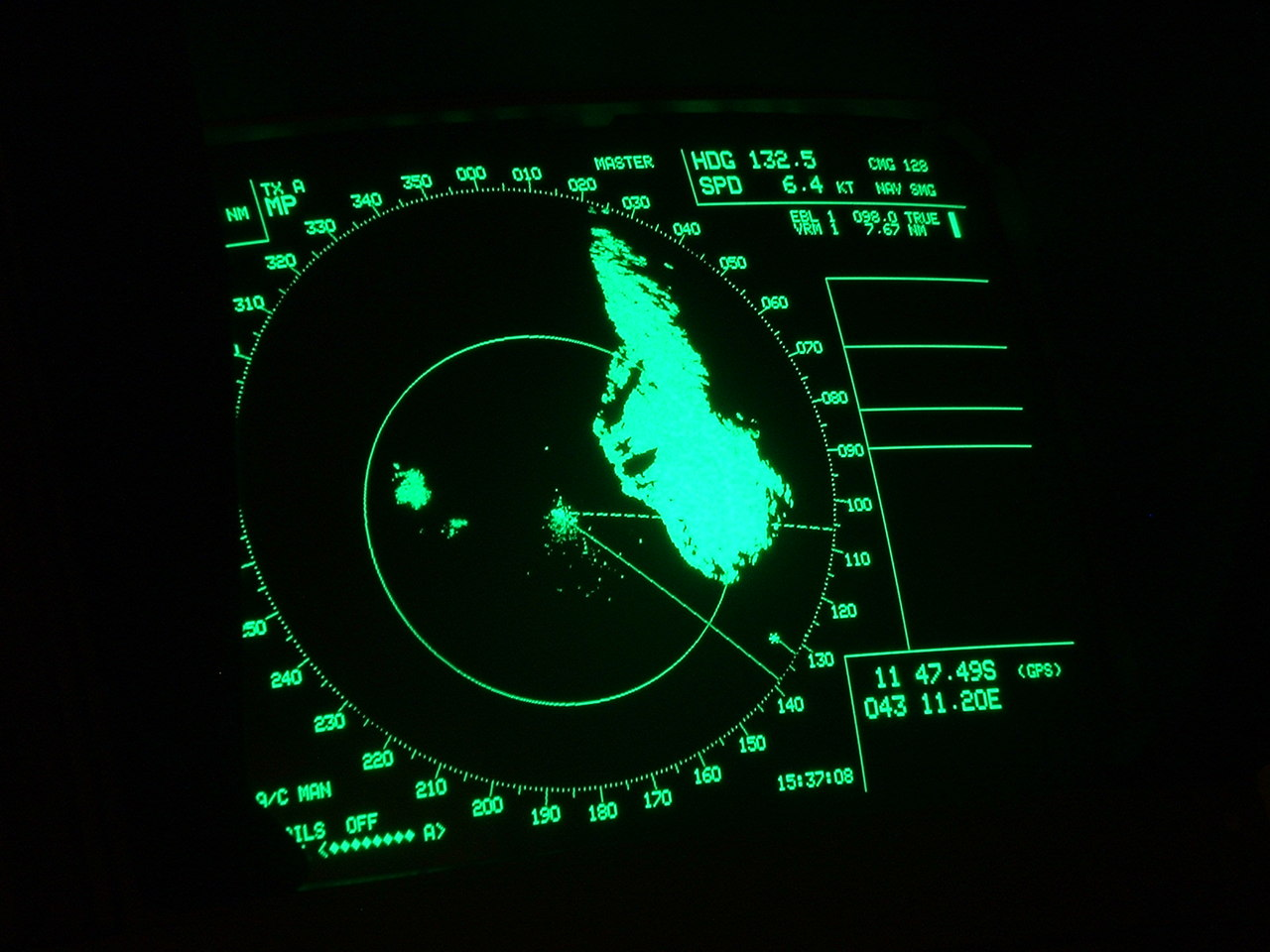 picture of a radar screen